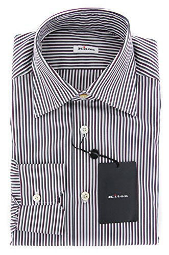new-kiton-red-striped-slim-shirt