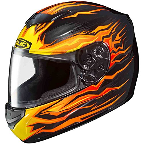 Motorcycle Helmet With Flames - 6