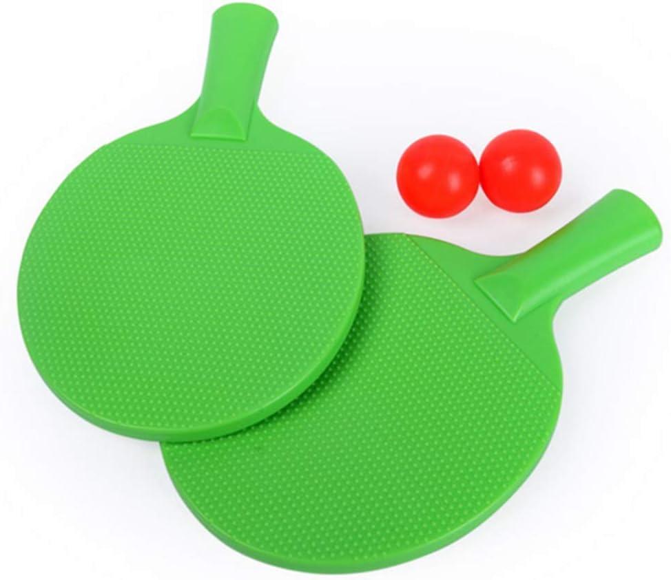 GGOODD El Plastico Juego De Raquetas De Tenis De Mesa, Estilo De Pluma Juego De Paletas De Ping Pong, Formación Pantalones De Plastico para Niños Juguetes Fitness Entretenimiento