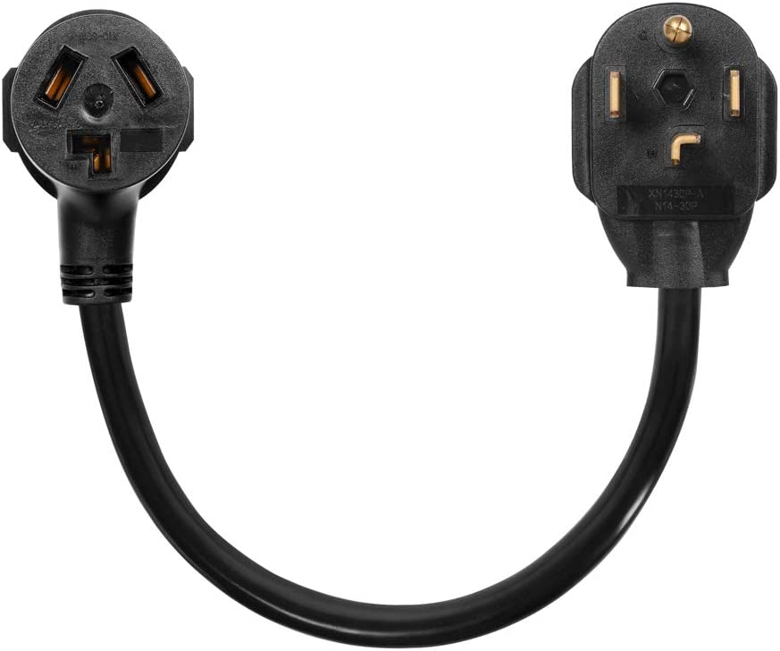 Dryer Adapter Cord, Dryer Adapter 3 Prong To 4 Prong NEMA 14-30P Male to 10-30R Female, 30A, 250V,dryer cord adapter 4 to 3 prong(20inch)