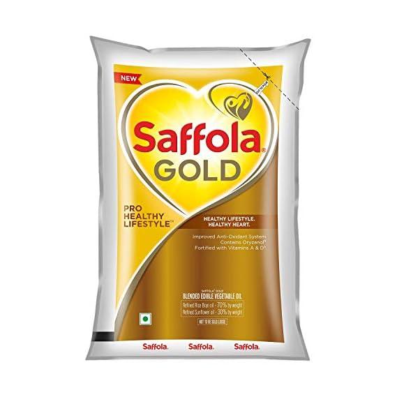 Saffola Gold, Pro Healthy Lifestyle Edible Oil, Pouch, 1 L