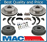 90-02 Astro All Wheel Drive 4x4 Rotors Brake Pads Drums Shoes Springs Cylind 9P