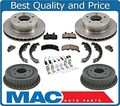 90-02 Astro All Wheel Drive 4x4 Rotors Brake Pads Drums Shoes Springs Cylind 9P (Rotor Chevrolet Astro)