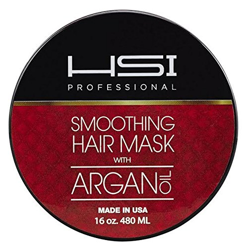 HSI PROFESSIONAL Hydrating smoothing Anti-Frizz Hair Mask for all hair types, infused with vitamins a, b, c, & d. creates silky, smooth and healthy hair. sulfate free. Made in USA. no more split ends (16oz) by HSI PROFESSIONAL (Image #2)