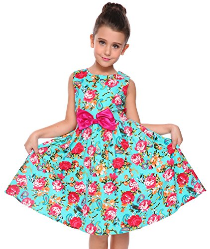 Arshiner Girls Party Dress Blue (Looking Under Girl Dress)