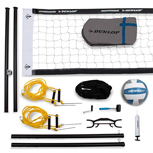- DUNLOP Professional Outdoor Sports Volleyball Set: Portable Net with 2