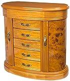 Mele & Co. Trinity Jewelry Box Walnut