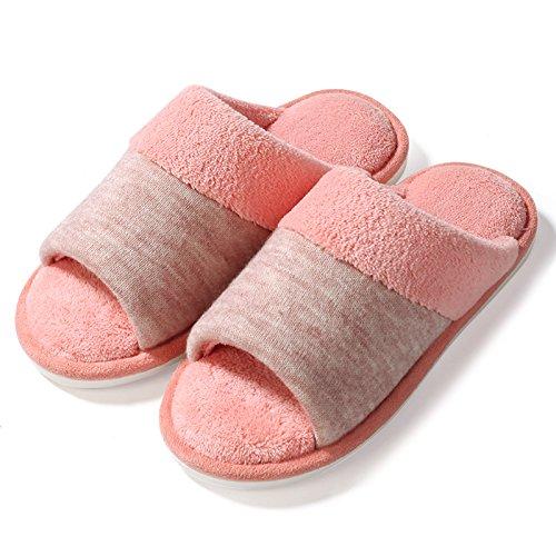 Fankou Accueil chaussons des couples prix plancher pendant le printemps et lautomne accueil Chaussons en coton non-slip hommes et faites glisser le mot ,39-40 Gray