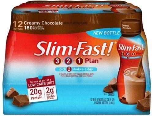 slim-fast-3-2-1-ready-to-drink-low-carb-creamy-chocolate-10-ounce-pack-of-12