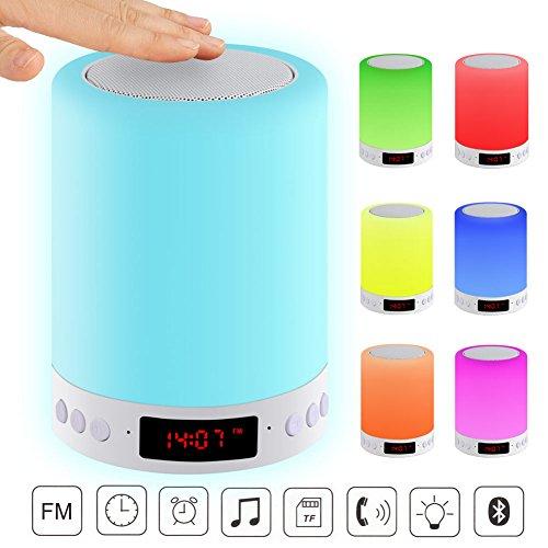 Led ChangeantesSmart ChevetCouleur Réglable6 Alarme Diy Lampe TouchRéveil BluetoothCapteur Tactile Haut Acrato Couleurs Parleur De QBoCrdxeW