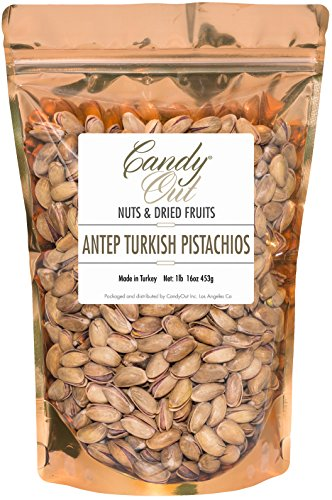 Antep Turkish Pistachios 1 Pound - 16 Ounce Roasted and Salted Premium Pistachios in Sealed Bag 1 Pistachio