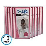 Modern Tea Filter Bags, Disposable Tea Infuser, Size 1, Set of 1000 Filters - 10 Boxes - Heat Sealable, Natural, Easy to Use Anywhere, No Cleanup – Perfect for Teas, Coffee & Herbs - from Magic Teafit