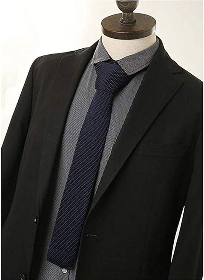 Corbata Tejida de Punto Cuadrada Color Sólido para Traje de Boda ...