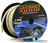 2058 Strands Silver - Sundown Audio 100 Ft 4 AWG Power Cable