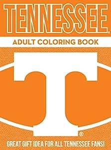 NCAA Tennessee Volunteers Unisex Adult Coloring Bookncaa Adult Coloring Book, Orange, 96 Coloring Pages