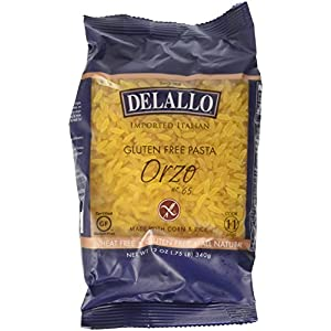 Delallo Gluten Free Corn & Rice Pasta Orzo No.65 — 12 oz – 2 pc
