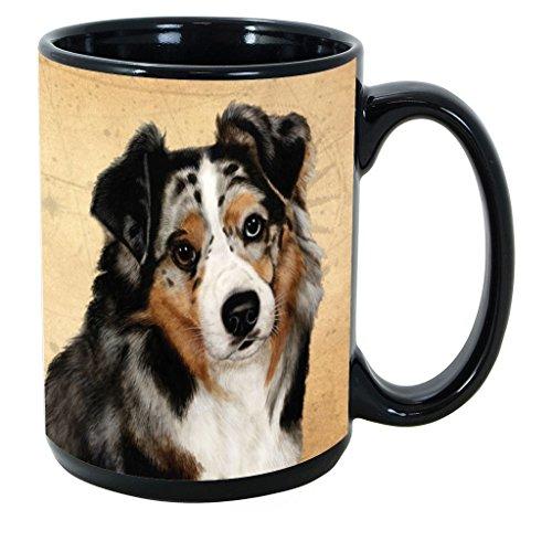 Imprints Plus Dog Breeds (A-D) Australian Shepherd 15-oz Coffee Mug Bundle with Non-Negotiable K-Nine Cash (australian shepherd 010)