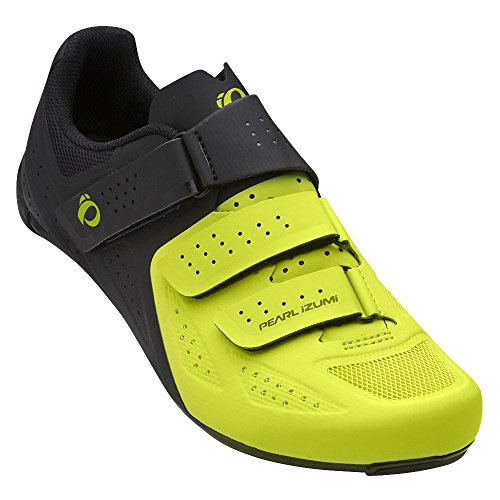 Pearl iZUMi Men's Select Road v5 Cycling Shoe, Black/Lime, 45.0 M EU (10.8 US)