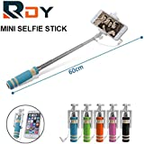 RDY MINI SELFIE STICK FOR ALL SMARTPHONES ANDROID WINDOWS SAMSUNG MICROMAX XIAOMI IPHONES WITH AUX CABLE
