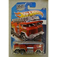 2011 Hot Wheels 5 Alarm Fire Truck HW City Works 178/244 RED