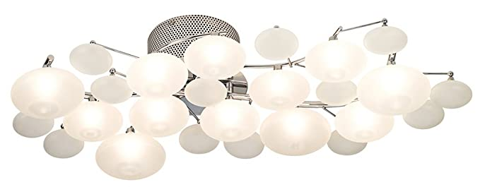 possini euro lilypad 30 wide etched glass ceiling light ceiling