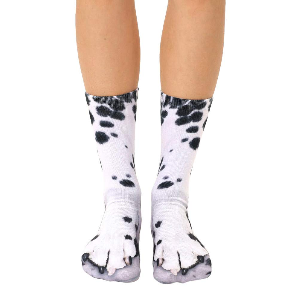 Bescita Women Men Socks-Adult Unisex Funny Animal Paw Printing Socks-Crew Socks Sublimated Print Creative Knitting Socks