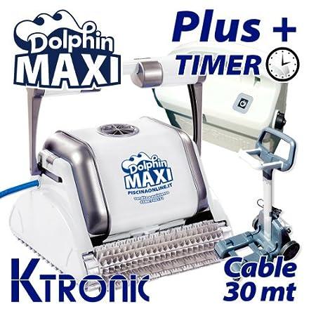 Robot limpiafondos piscina Maxi Plus con 30 metros de cable y ...