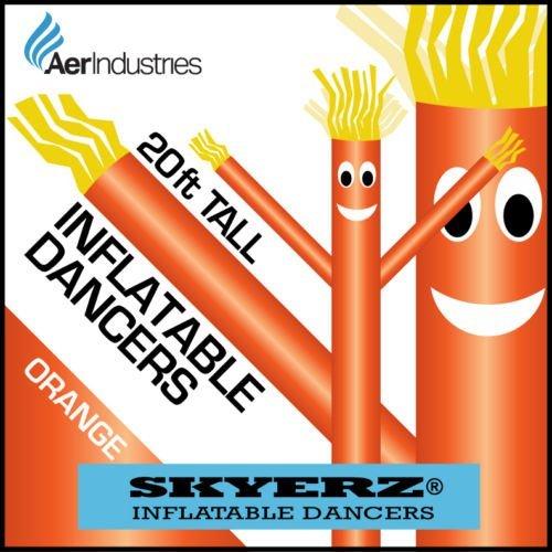 [20FT Bright Orange Skyer  Wacky Waving Inflatable Fly Sky Guy Puppet Advertising Dancing Tube] (Inflatable Wacky Waving Tube Man)