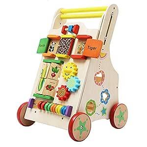 DMMW Andador para Bebé Andador de Madera de Juguete Juguetes ...