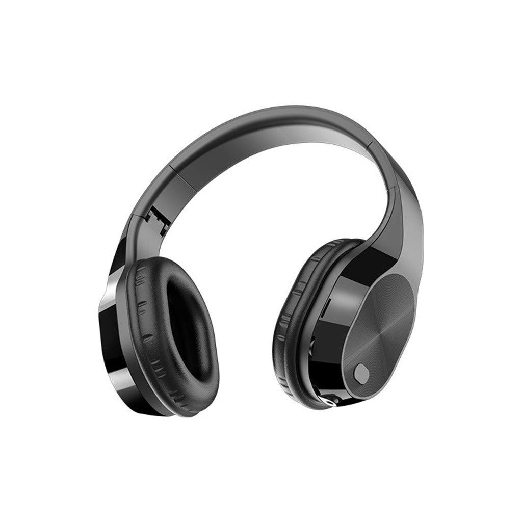 Mjuan Bluetooth Headphones Over Ear, Active Noise Cancelling, Hi-Fi Stereo Wireless Headset, Foldable, W/Built-in Mic Wired Mode PC/Cell Phones/TV, 30 Hours Playtime for Travel/Work