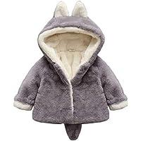 Borlai Chaqueta cálida para bebés de 0 a 5 años con capucha para invierno