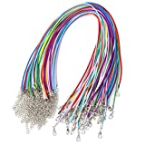 HSAN 60 Pcs Necklace Cord, 20 Inches Multicolor