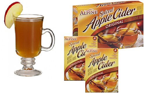 Spiced Hot Apple Cider Instant Mix Packets Alpine Original Apple Flavor 10 Beverage - 10 Drink Packets Hot