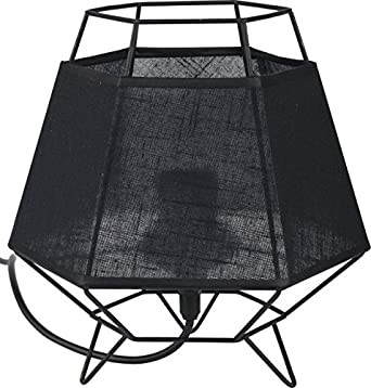 Deckenleuchte Leuchte Lampe Wohnzimmer Weiss Schwarz Grau Tischlampe (Modell  VIII Schwarz)