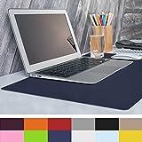 "casa pura Non-Slip Dark Blue Desk Mat | 20"" x 26"" (1.6'x2') | PVC & Phthalate Free | Multiple Colors To Choose From"