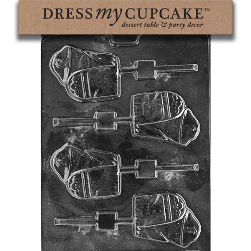 Dress My Cupcake DMCH098 Chocolate Candy Mold, Gravestone Lollipop, Halloween -