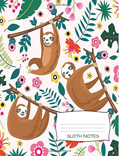 """Sloth Notes: Cute Sloth Notebook 7.44"""" x 9.69"""" 100 Pages Isometric Paper ebook"""