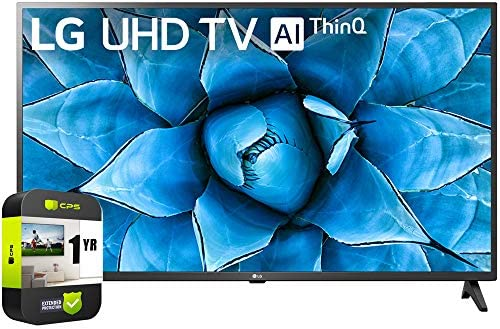 LG 55UN7300PUF 55 inch UHD 4K HDR AI Smart TV 2020 Model Bundle with 1 Year Extended Protection Plan