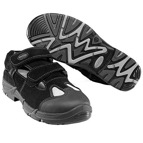 Mascoots - Sandalias de vestir de ante para hombre multicolor negro y amarillo negro/gris oscuro