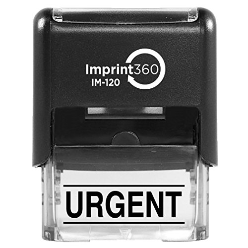 Imprint 360 URGENT with Upper and Lower Bars, Heavy Duty Commercial Self-Inking Rubber Stamp by Imprint 360