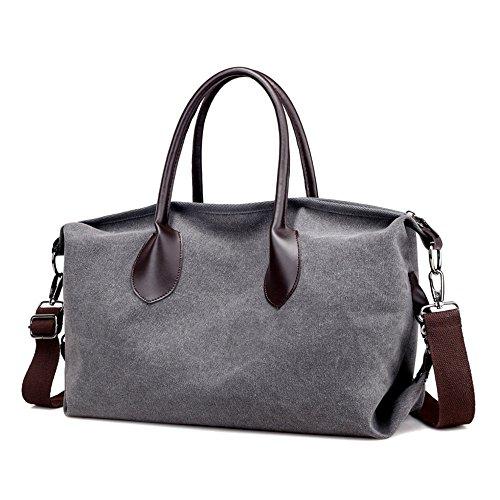 GWQGZ New Women'S Leisure Bag Simple Canvas Bag Crossbody Handbag Of Large Capacity In (Suede Boston Bag)
