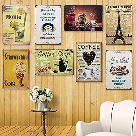LAAT Poster M/étal Vintage Metal Sign Plaque Mural de D/écoration Affiche Peinture Art D/écoratif pour Bar//Pub//Caf/é Style # 1