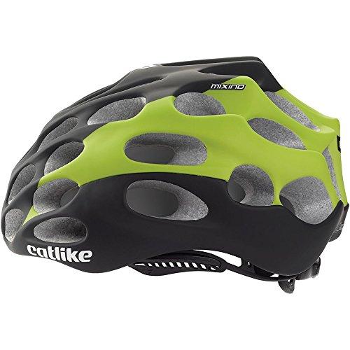 Catlike Mixino Fluo SV Bike Helmet, Black/Green, Large