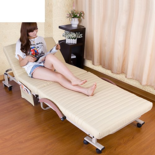 RWUEFSJV Folding Bed/Single Bed/Office Lunch Bed/Nap Bed/Simple Bed/Home Bed/Thickened Sponge Bed/Escort Bed-A