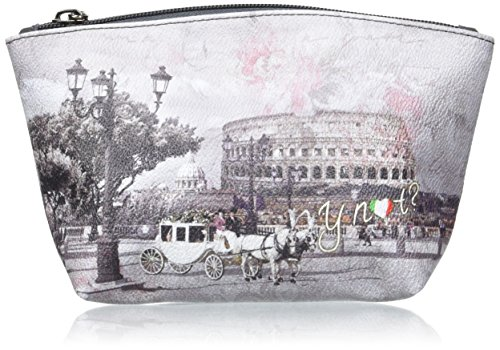 YNOT i-308, Organizer Borsa Donna, 20x11.5x7 cm (W x H x L) Multicolore (Romantic Coach)
