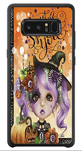 AOFFLY Case for Samsung Galaxy Note 8 - Sheena Pike Art And Illustration - I Put a Spell on You - Halloween Hannah - Shock Absorption Protection Phone Cover -