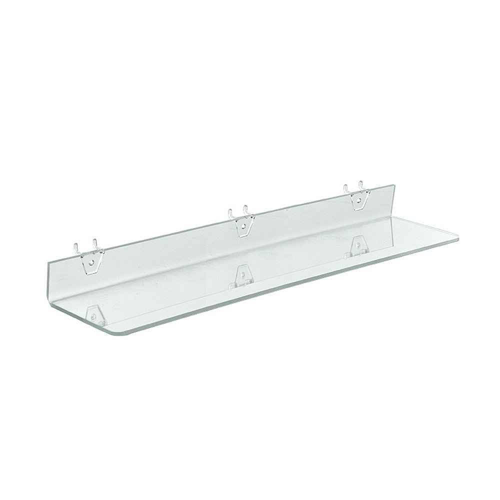 Azar Displays 556010-4pack  Clear Acrylic Shelf for Pegboard or Slatwall (Pack of 4)
