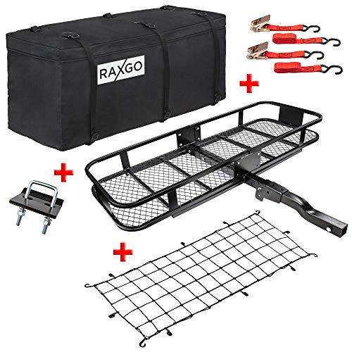 "RaxGo Hitch Mount Cargo Carrier Set with 60"" x 20"""
