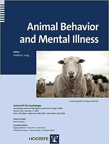 Book Animal Behavior and Mental Illness 2015 (Zeitschrift fuer Psychologie)