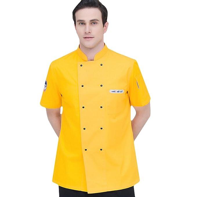 ... Moda Verano Manga Corta Camisa de Cocinero Transpirable Chaquetas de  Chef Uniforme Restaurante Occidental Cocina Trasera  Amazon.es  Ropa y  accesorios bb24fbaf40b